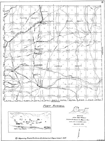 L. C. Bishop Emigrant Trail Map Series --  Fort DA Russell