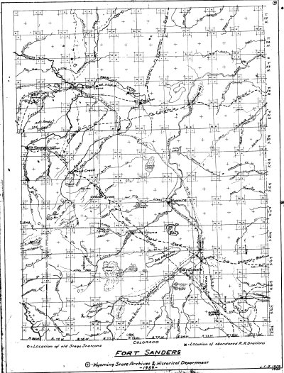 L. C. Bishop Emigrant Trail Map Series --  Fort Sanders